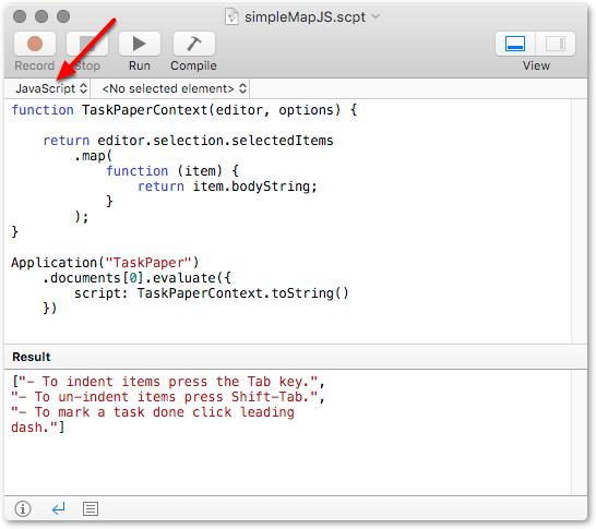 Scripting alternatives for TP3: AppleScript and JavaScript